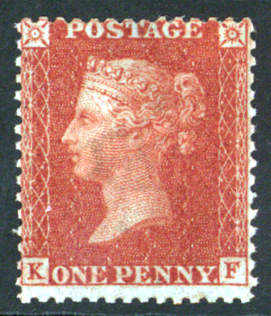1856-57 1d red brown Plate 30 FK, SG.29
