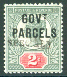 Govt Parcel 1891 2d grey-green & carmine