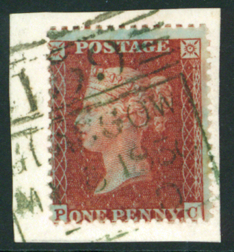 1854-57 wmk small crown Okate 16 1d red brown