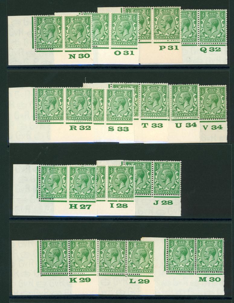 1924 Block Cyher ½d green SG.418