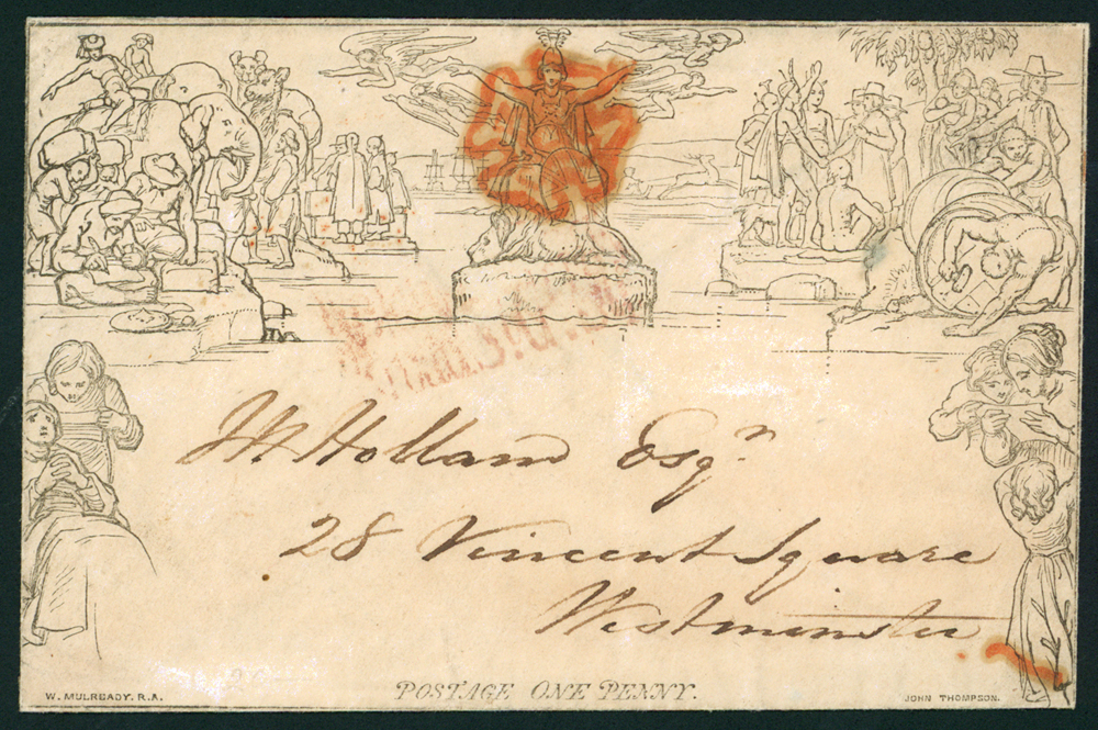 1840 Ju.18th one penny envelope sent locally to Vincent Square Westminster