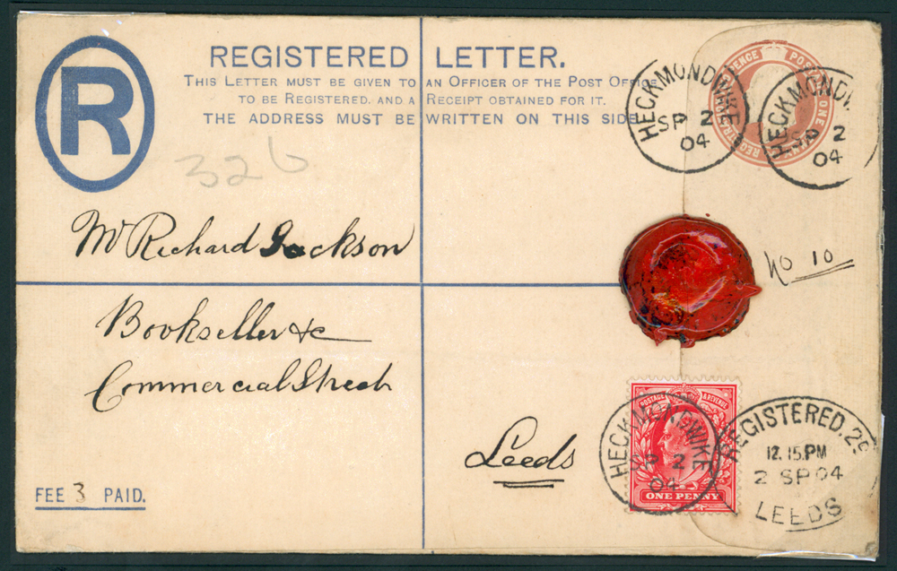 1904 Sept 2nd 1d Registered envelope