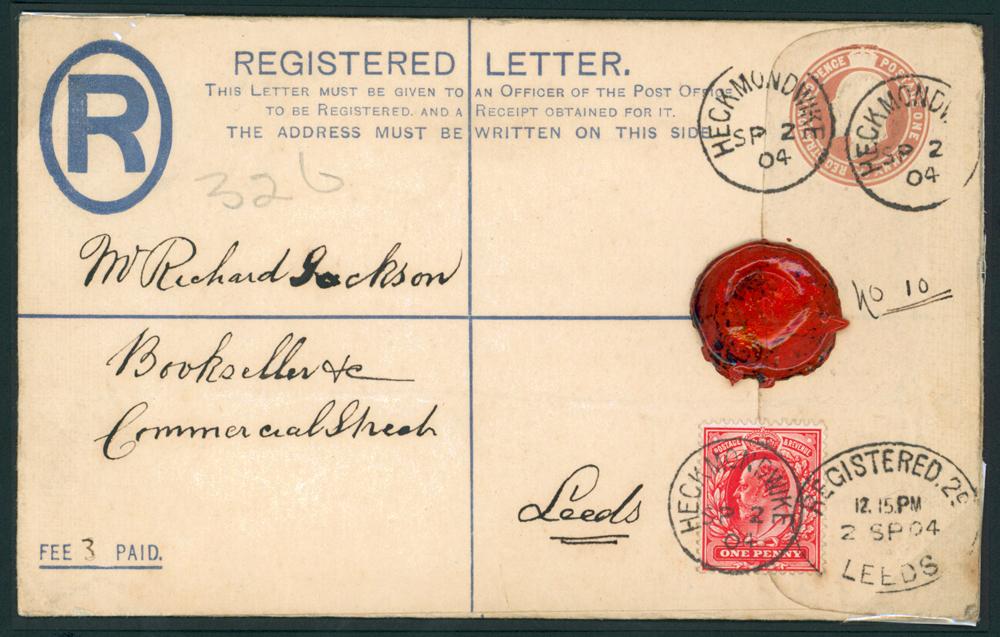 1904 Sept 2nd 1d Registered envelope