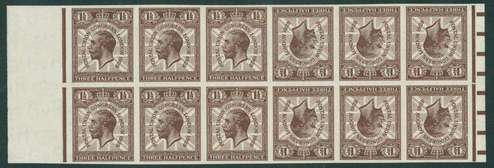 1929 1½d red brwon 'PostalUnion Congress'