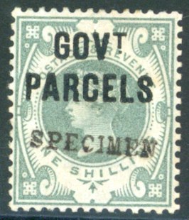 GOVT. PARCELS 1890 1s dull green