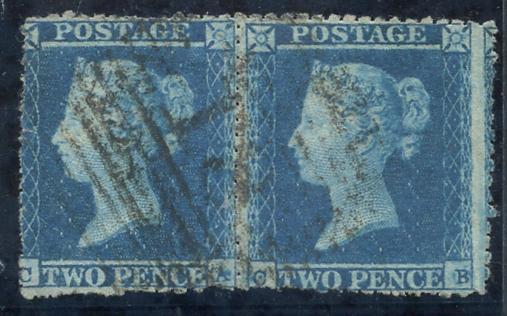 1841 2d blue Plate 4 CA/CB