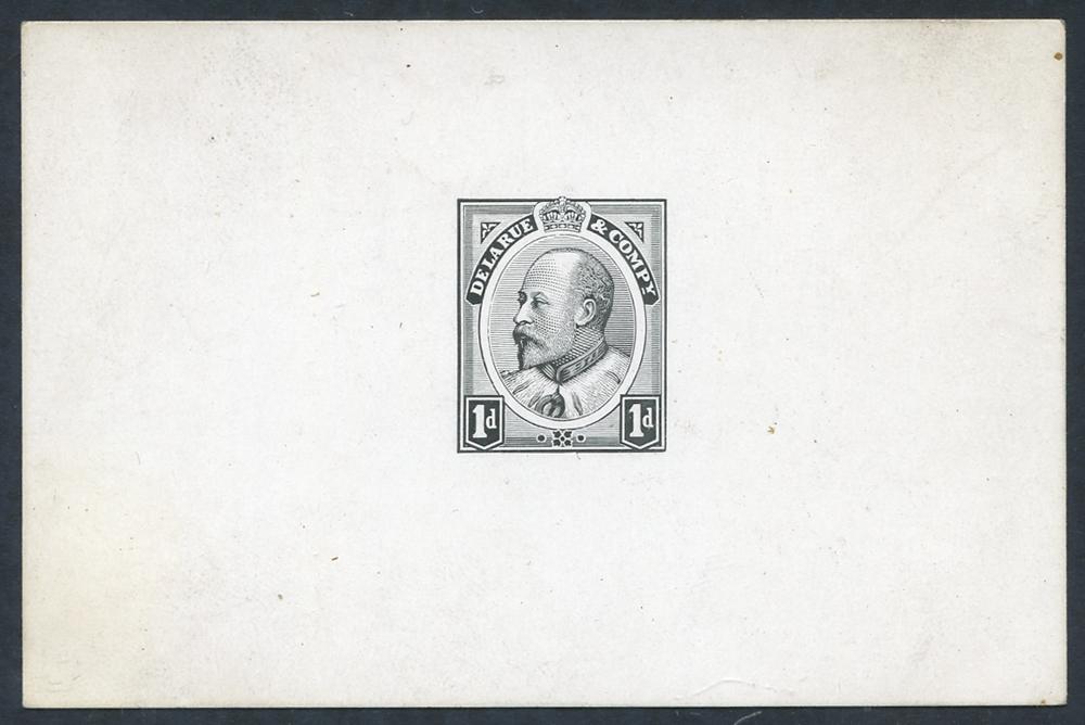 1903 1d Canada Head Essay Die proof