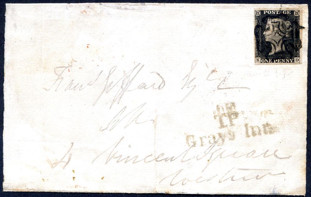 1840 1d black Plate 1b KD