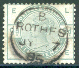 1883 9d dull green centred to upper left, SG.195. Cat. £480