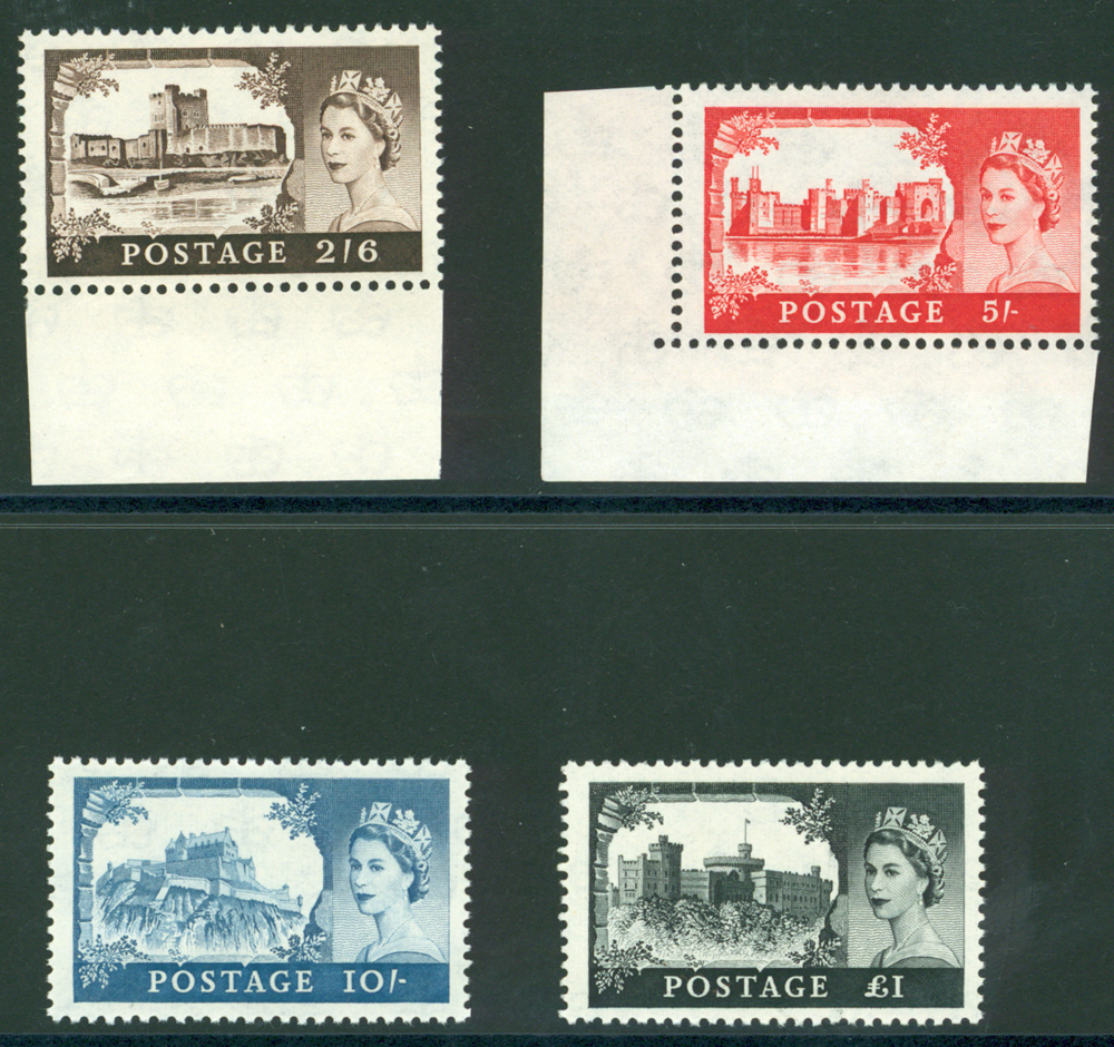1959 2nd DLR Castle high value set UM