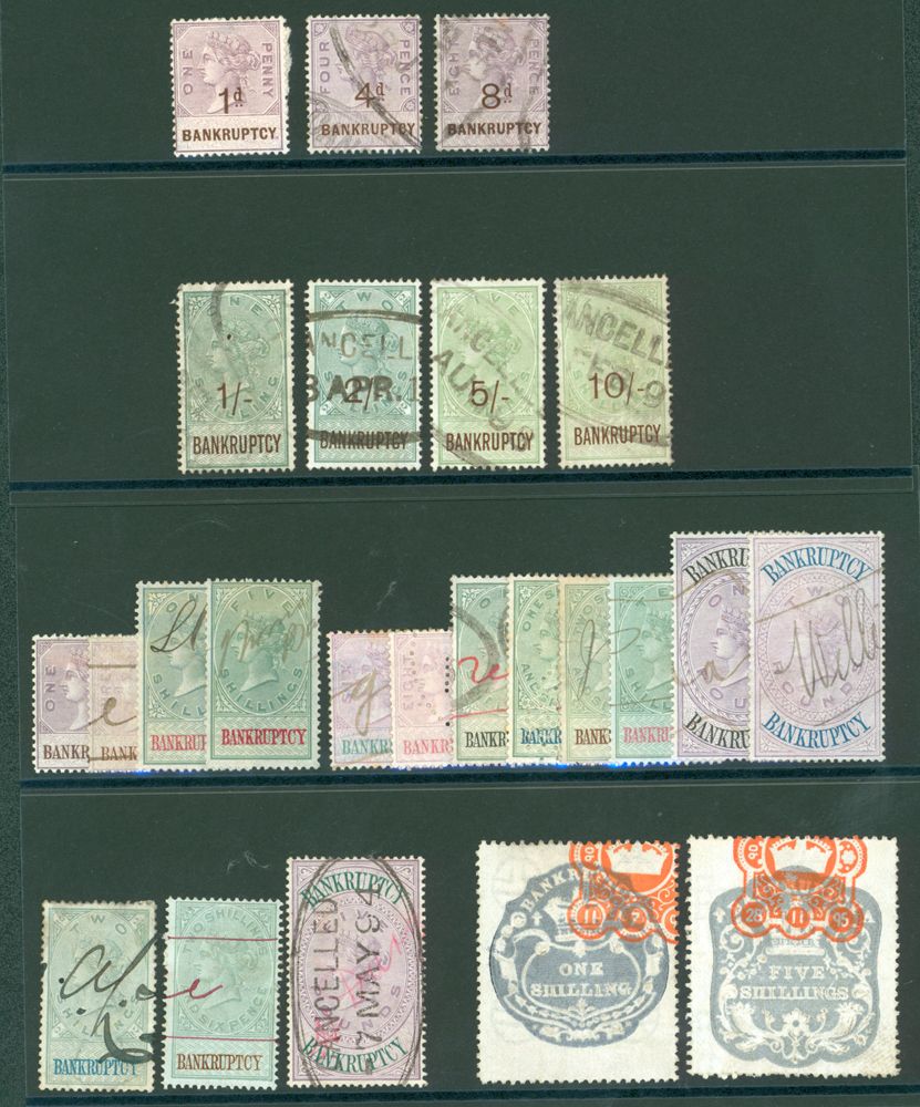BANKRUPTCY REVENUES 1873, 1878, 1889 & 1895 (24)