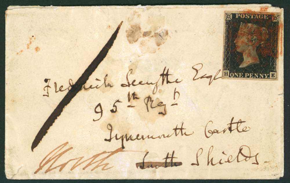 1840 small envelope from Killucan to Drumcree (Ireland)