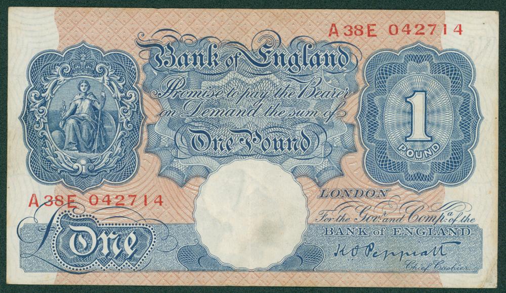 1940 Peppiatt £1 (A38E 042714)