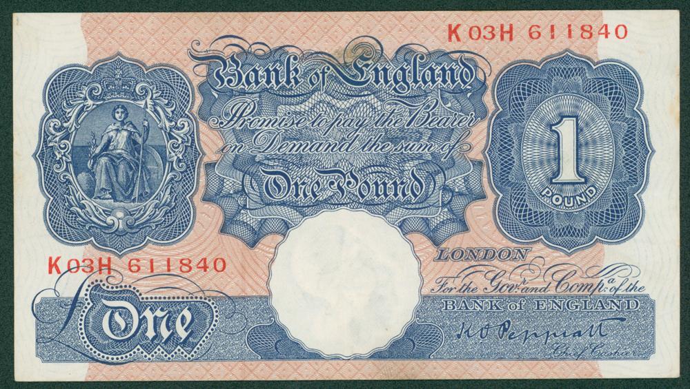 1940 Peppiatt £1 (K03H 611840)
