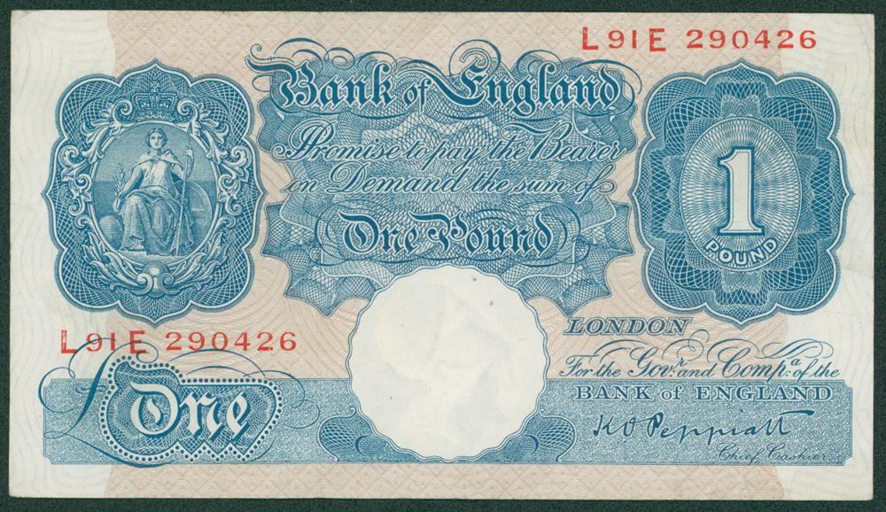 1940 Peppiatt £1 (L91E 290426)