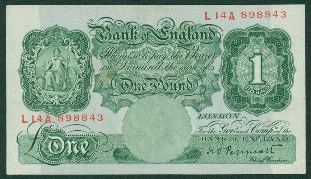 1934 Peppiatt £1 (L14A 898843)