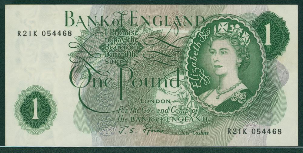 1967 Fforde £1 (R21K 054468)