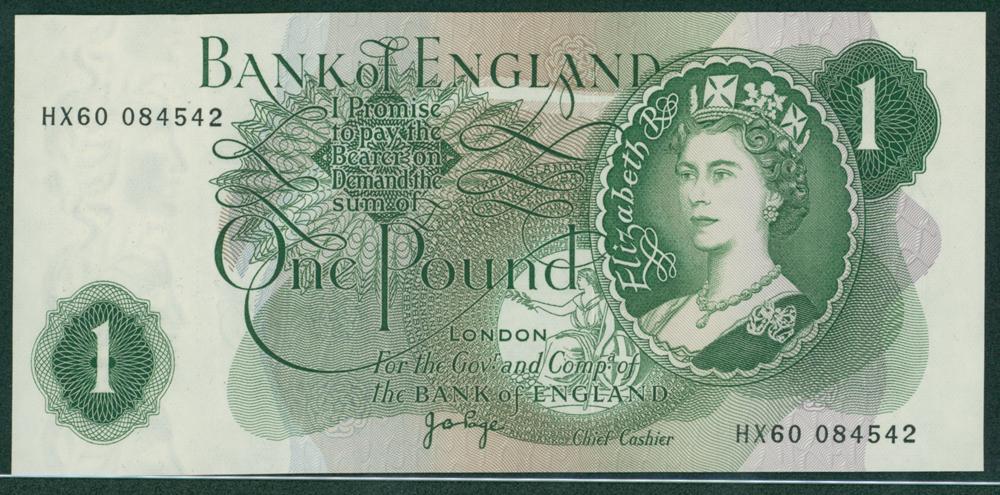 1970 Page £1 (HX60 084542)