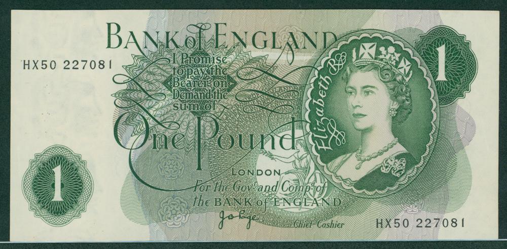 1970 Page £1 (HX50 227081)
