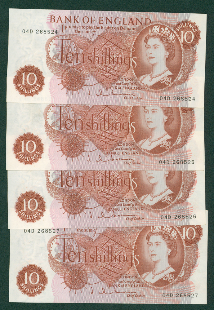 1963 Hollom 10s, consecutive run of 4