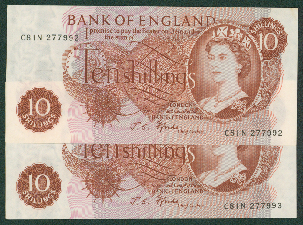 1967 Fforde 10s, consecutive pair
