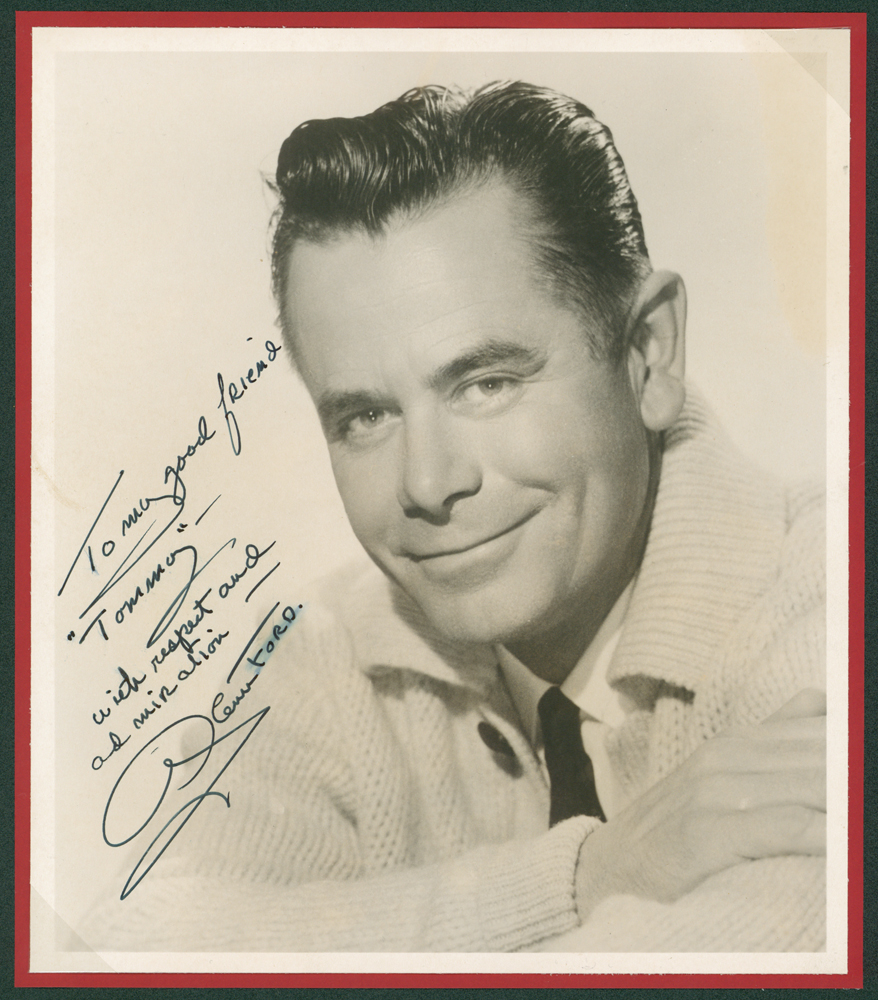 FORD, GLENN 1916-2006 Canadian-American actor vintage head & shoulders photograp