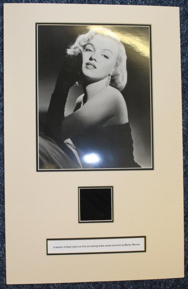 MONROE, MARILYN American actress 1926-1962 piece of black crepe