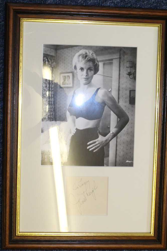 LEIGH, JANET 1927-2004 American actress signed piece