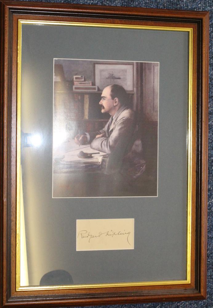 KIPLING, RUDYARD Poet & Novelist 1865-1936 signed piece