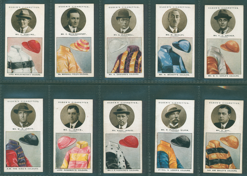 1925 Ogdens Trainers & Owners Colours