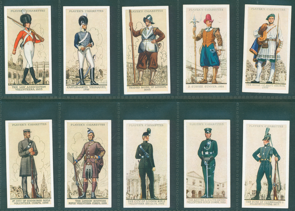 1939 Players Uniforms of the Territorial Army
