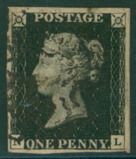 1840 1d black Plate 8 NL