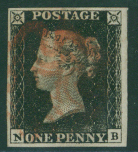 1840 1d black Plate 6 NB
