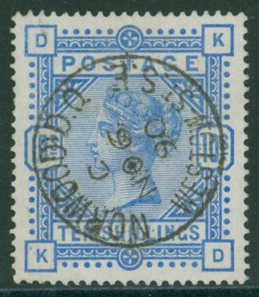 1883 10s ultramarine