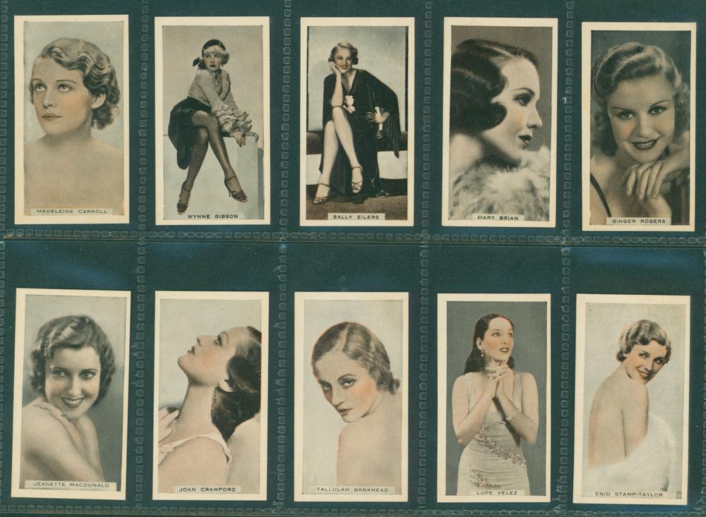 1933 Godfrey Phillips Stage and Cinema Beauties