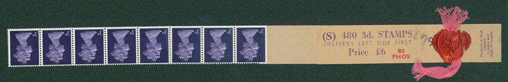 1968 3d violet (centre band)