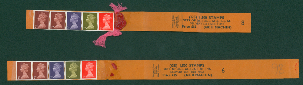 1969 multi value coil strip of five