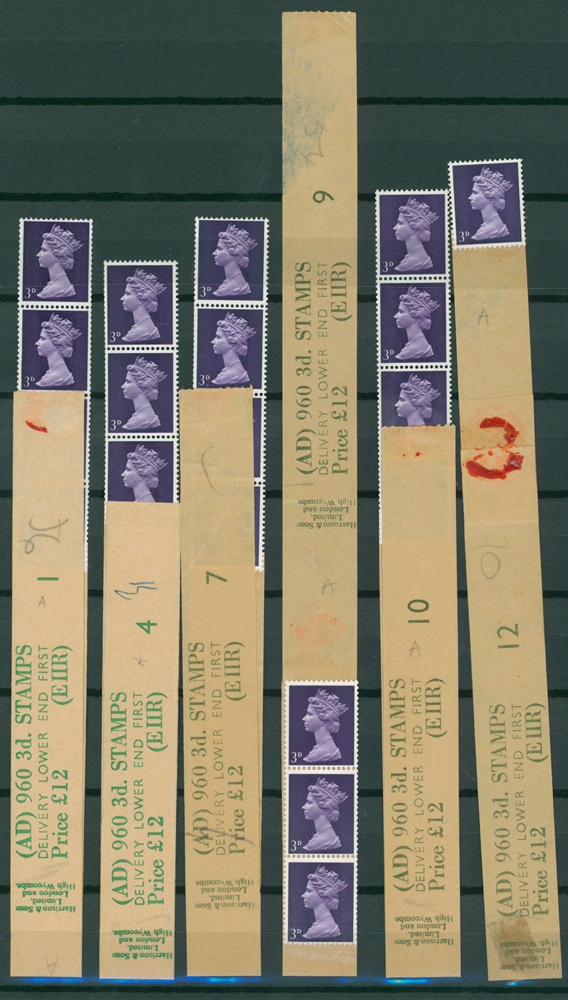 1968 3d violet (2 bands) (6 items)