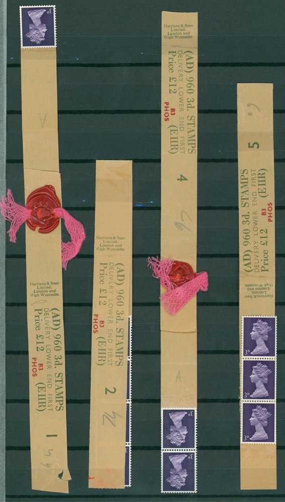 1969 3d violet (2 bands) (4 items)
