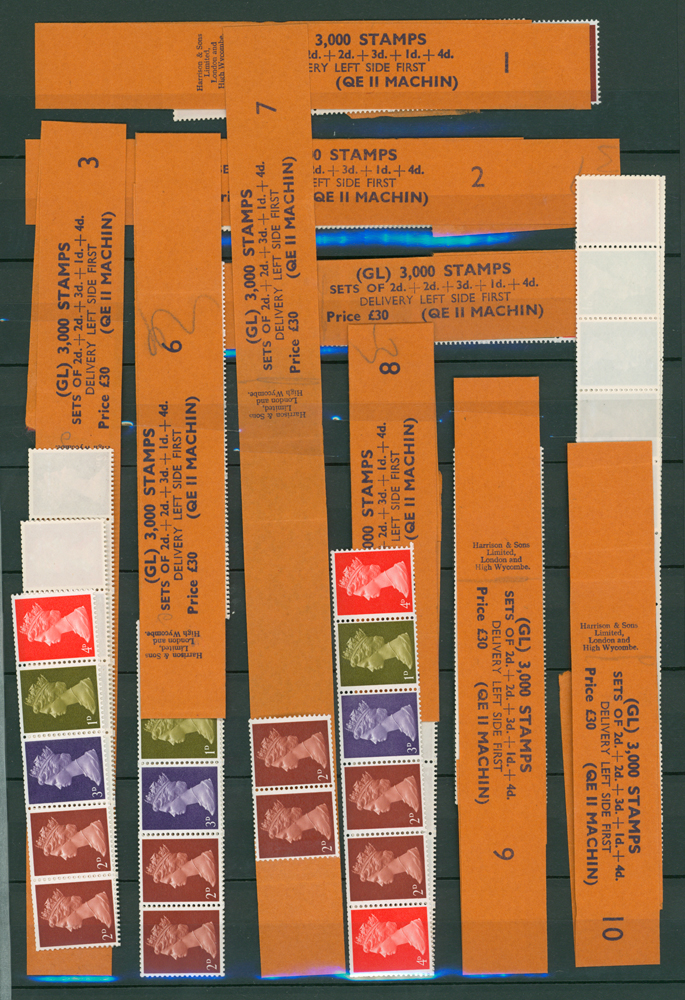 1969 multi value coil strip of five (9 items)