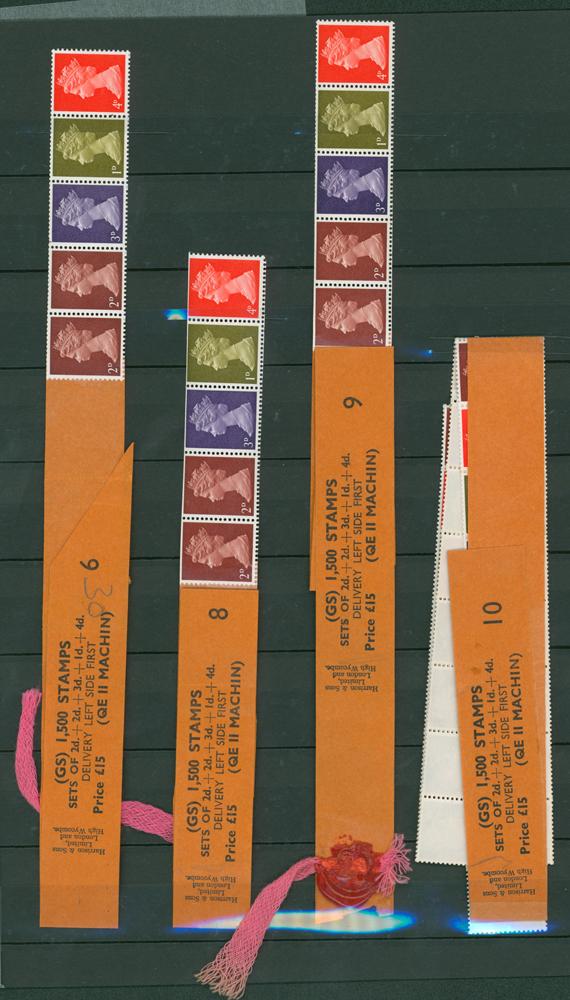 1969 multi value coil strip of five (4 items)
