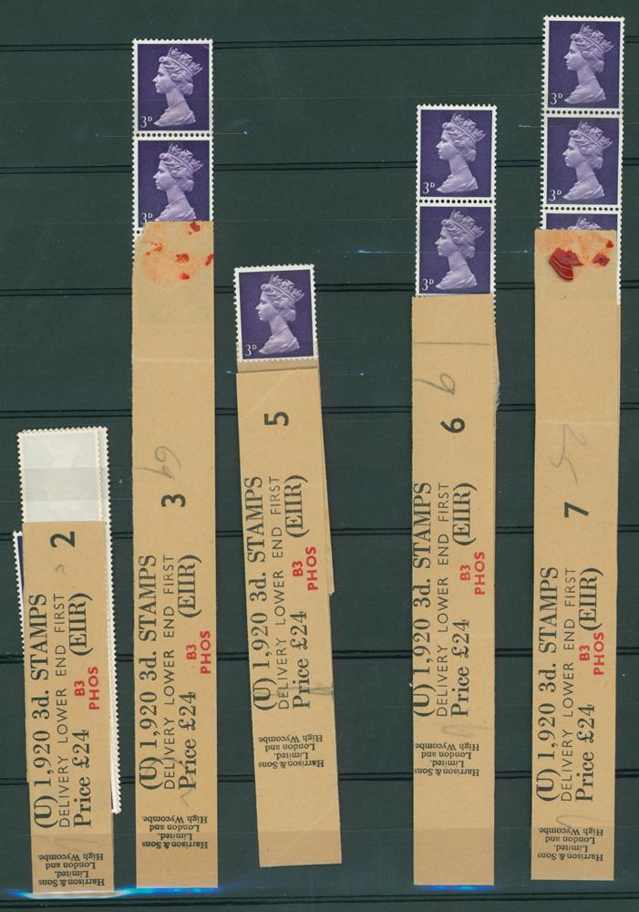1967 3d violet (centre band) (8 items)