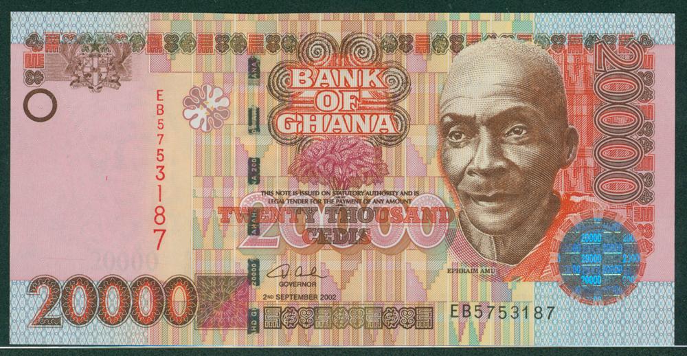 Ghana 2002 20,000 cedis