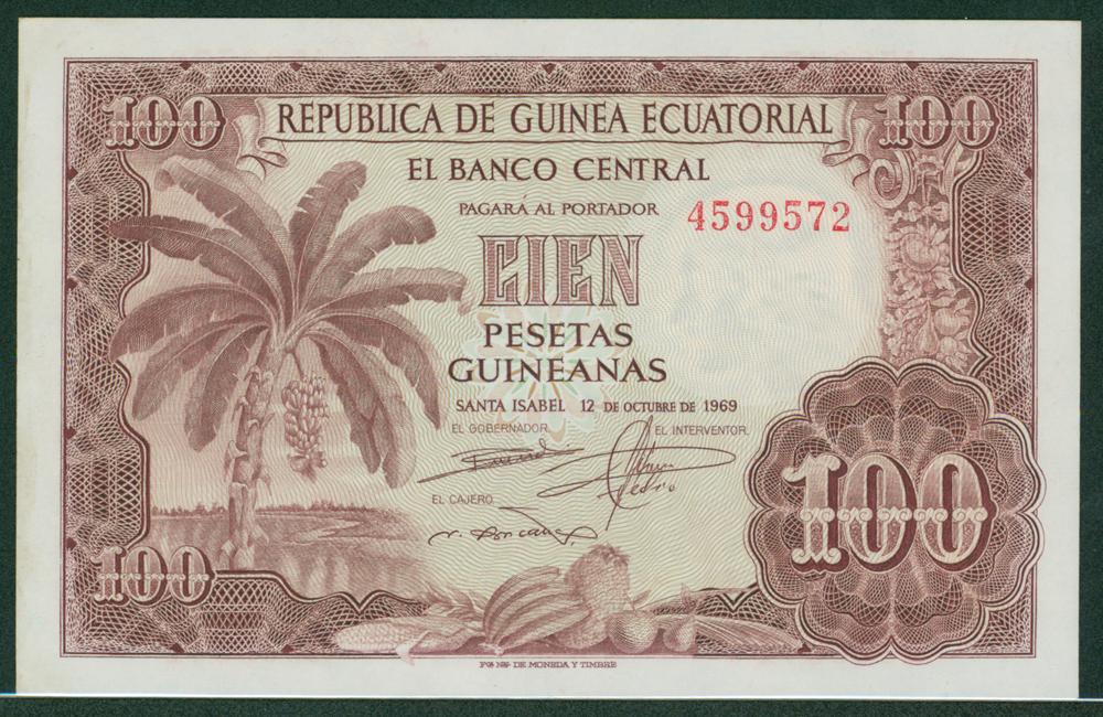 Equatorial Guinea 1969 100 pesetas