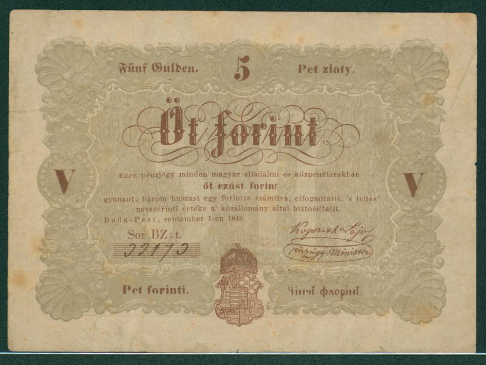 Hungary 1848 5 forint
