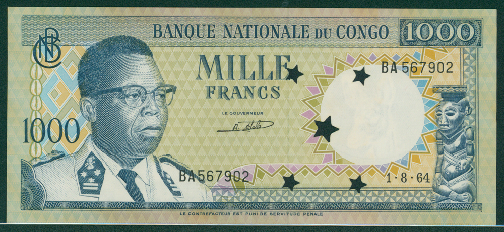 Congo 1961 1000f Kasavubo