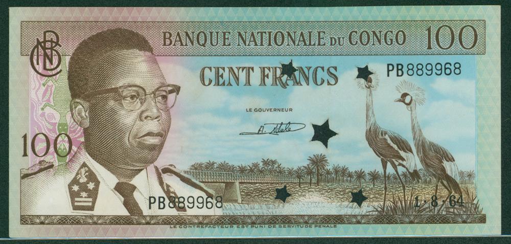 Congo 1961-64 100f Kasavubo