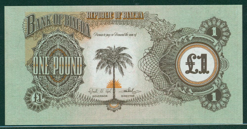 Biafra 1968-69 £1 without serial number