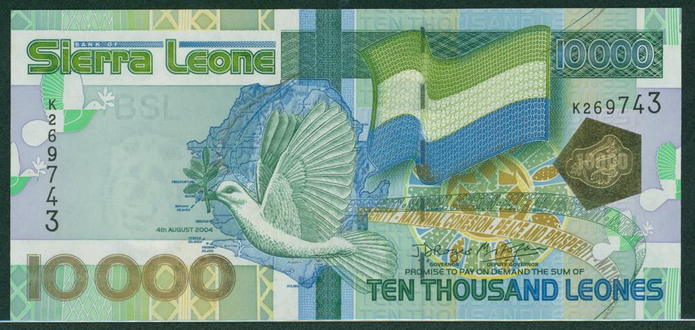 Sierra Leone 2004 10,000 leones