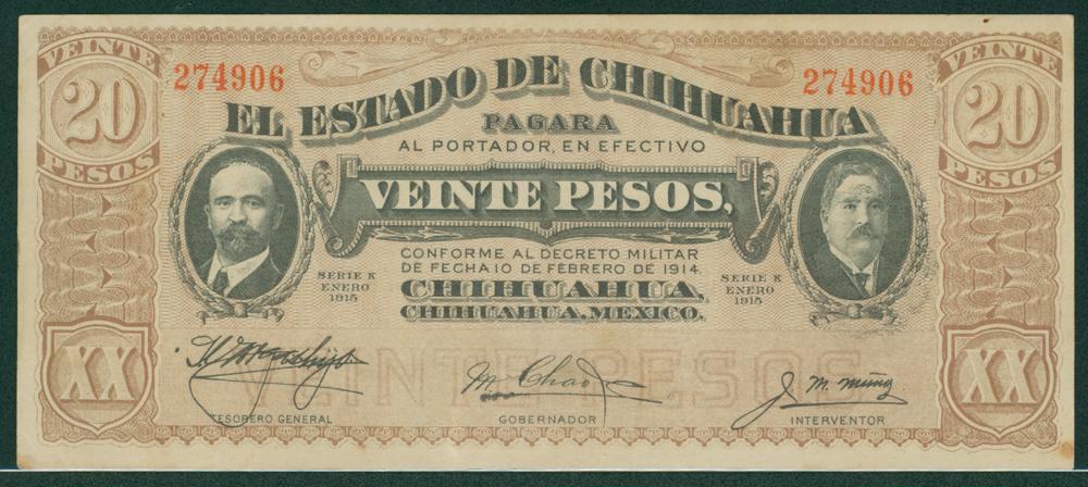 Mexico 1914 20 pesos